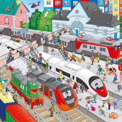 Jigsaw puzzle: Railway station