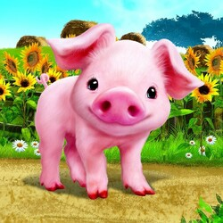 Jigsaw puzzle: Cute piglet