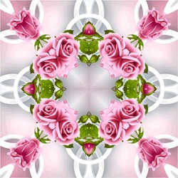 Jigsaw puzzle: Kaleidoscope of roses