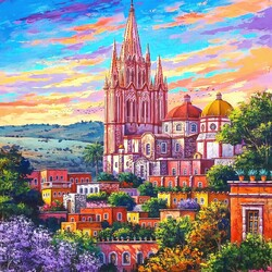 Jigsaw puzzle: Sunset in San Miguel