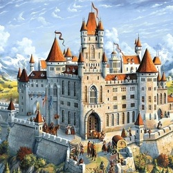 Jigsaw puzzle: Castle on the mountain