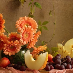 Jigsaw puzzle: Still life with gerberas