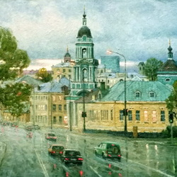 Jigsaw puzzle: Moscow evening