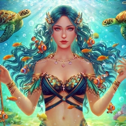 Jigsaw puzzle: Vellamo, goddess of the sea