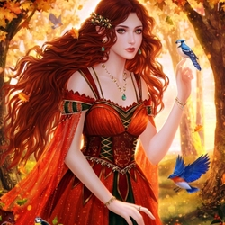 Jigsaw puzzle: Autumn fairy