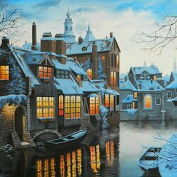 Jigsaw puzzle: Winter in Bruges