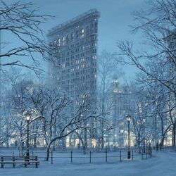 Jigsaw puzzle: Winter Flatiron