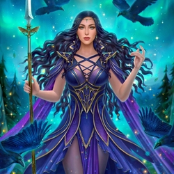 Jigsaw puzzle: Morrigan - Queen of Ghosts
