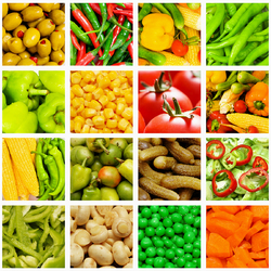 Jigsaw puzzle: Vegetable collage