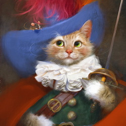 Jigsaw puzzle: Musketeer Cat