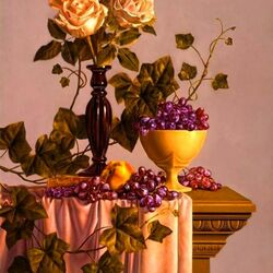 Jigsaw puzzle: Roses and grapes