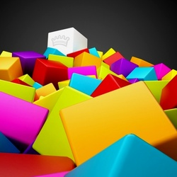 Jigsaw puzzle: Colored cubes