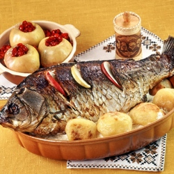 Jigsaw puzzle: Fried fish
