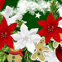 Jigsaw puzzle: Christmas flowers