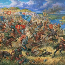 Jigsaw puzzle: Prince Danila of Ostrog at the Battle of Blue Waters