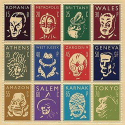 Jigsaw puzzle: Monster stamps