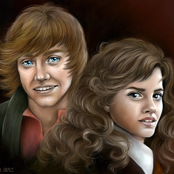Jigsaw puzzle: Ron and Hermione