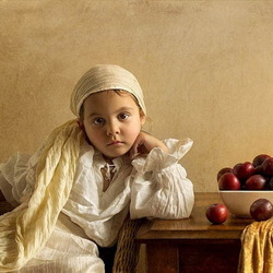 Jigsaw puzzle: Girl with plums