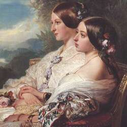 Jigsaw puzzle: Queen Victoria and the Duchess de Nemours