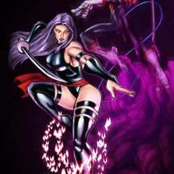 Jigsaw puzzle: Psylocke and Kurt Wagner