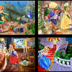 Jigsaw puzzle: Illustrations for fairy tales