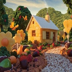 Jigsaw puzzle: Marzipan house