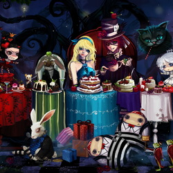 Jigsaw puzzle: Tea Party at the Mad Hatter