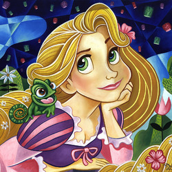 Jigsaw puzzle: Rapunzel and Pascal