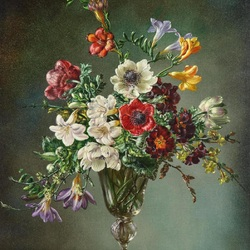 Jigsaw puzzle: Bouquet with freesias