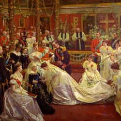 Jigsaw puzzle: Marriage of Princess Maud and Prince Karl