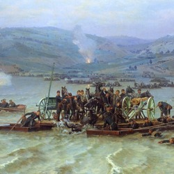 Jigsaw puzzle: The crossing of the Russian army across the Danube near Zimnitsa on June 15, 1877