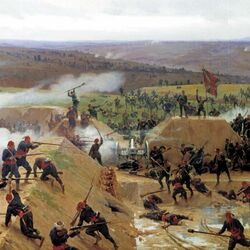 Jigsaw puzzle: Capture of the Grivitsky redoubt near Plevna