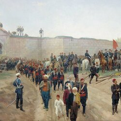 Jigsaw puzzle: Surrender of the fortress Nikopol on July 4, 1877