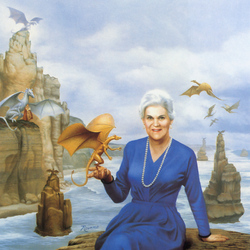 Jigsaw puzzle: Portrait of Anne McCaffrey