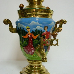 Jigsaw puzzle: Painted samovar