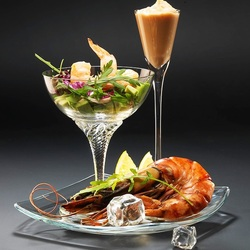 Jigsaw puzzle: Seafood cocktail