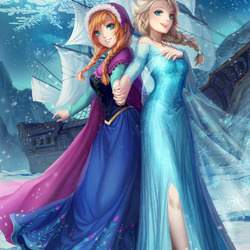 Jigsaw puzzle: Anna and Elsa