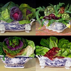 Jigsaw puzzle: Vegetable still lifes
