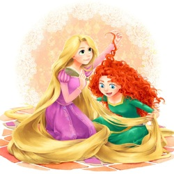 Jigsaw puzzle: Rapunzel and Merida