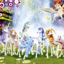 Jigsaw puzzle: Mia with unicorns