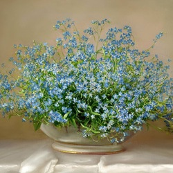 Jigsaw puzzle: Forget-me-nots
