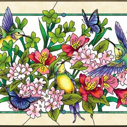 Jigsaw puzzle: Stained glass beauty