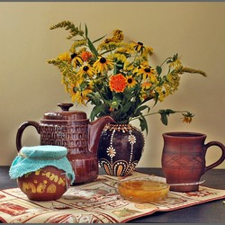 Jigsaw puzzle: Still life with honey