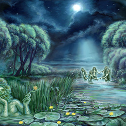 Jigsaw puzzle: Night on Ivan Kupala