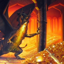 Jigsaw puzzle: Smaug the Golden