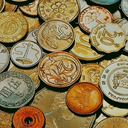 Jigsaw puzzle: Coins of different countries