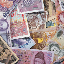 Jigsaw puzzle: Money from different countries