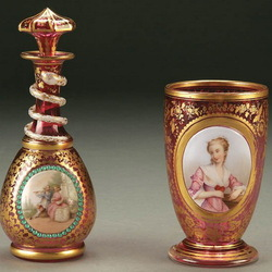 Jigsaw puzzle: Perfume bottle and bowl