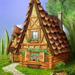 Jigsaw puzzle: Gingerbread house
