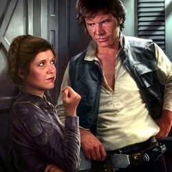 Jigsaw puzzle: Leia and Han